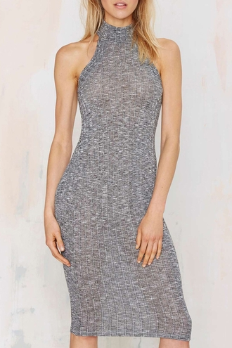 dress zaful grey dress cotton dress halter dress grey halter dress gray halter dress