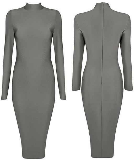2814cb1c49 dress dream it wear it dress clothes clothes grey grey dress turtleneck  turtleneck dress long sleeves