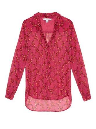 shirt print pink top