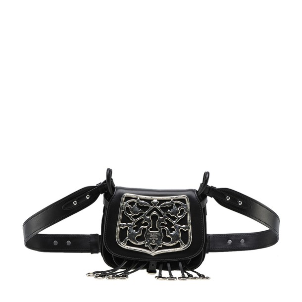 cross metal bag black