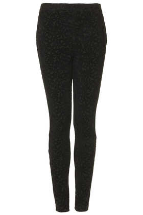 Bloom Block Flocked Treggings - Topshop USA