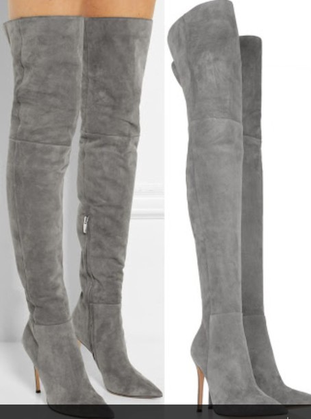 shoes grey aldo suede boots grey boots thigh high