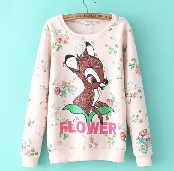 print style cute cute sweaters bambi cute bambi sweater sweater with bambi cute sweater cute sweaters winter wooly knit wear