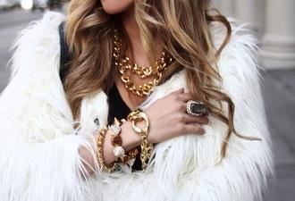 jacket white fur