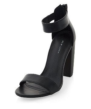 575b796b659 Black Ankle Strap Block Heels