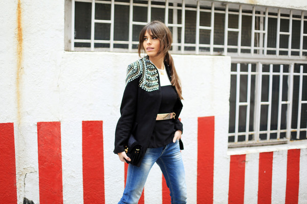 seams for a desire jacket t-shirt jeans shoes belt jewels