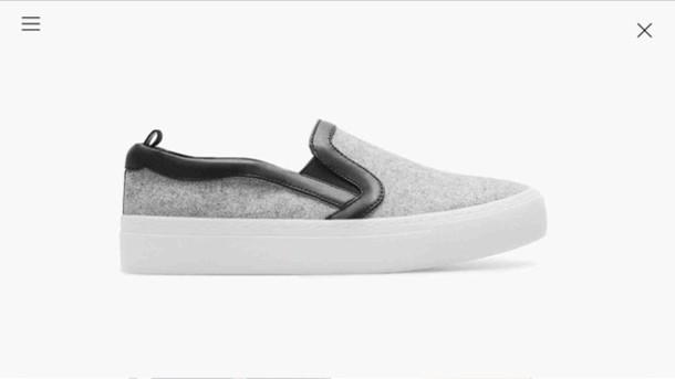 5bda89db shoes, grey, zara shoes, slip-ons - Wheretoget