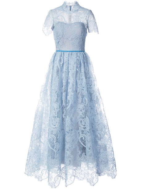 dress lace dress short women lace blue