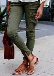 pants,olive green,cargo pants,jeans,green,cropped pants
