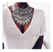 jewels,necklace,silver,boho,bohemian,gypsy,statement,big,jewelry,festival,coachella,statement necklace,silver necklace,boho jewelry