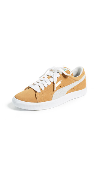 sneakers suede white mustard shoes