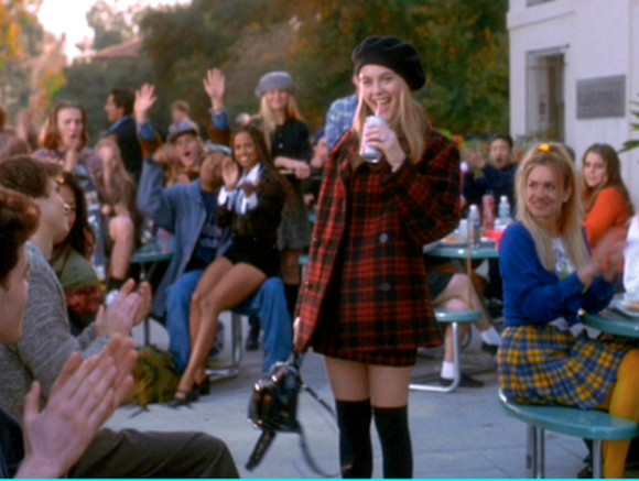 coat flannel 90's clueless preppy