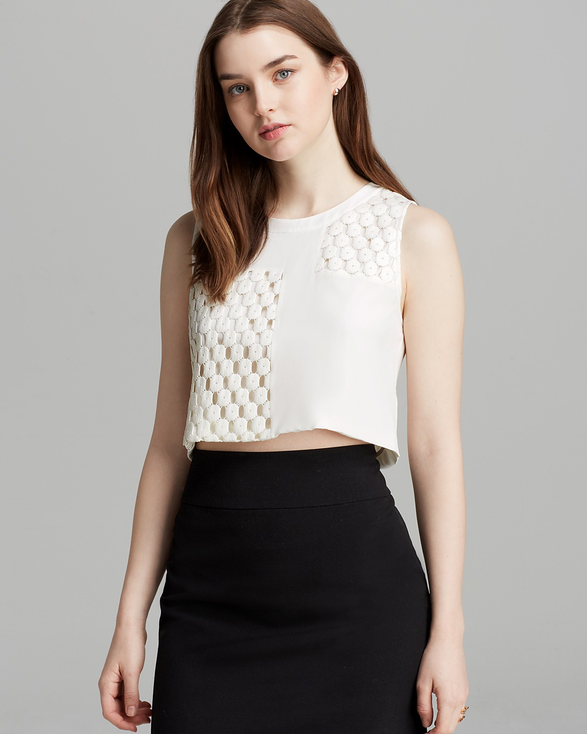 Elizabeth and James Top - Vinique Coated Lace | Bloomingdale's