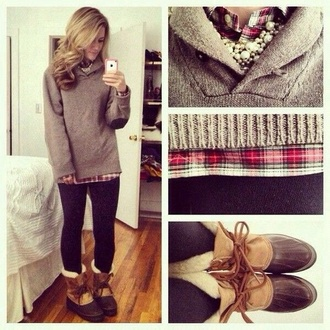 top sweater winter sweater red shoes