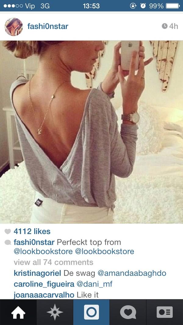 blouse grey top sweater t-shirt shirt cardigan