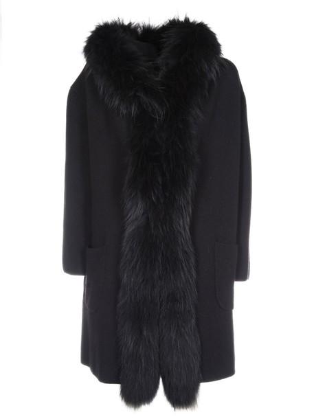 Rizal coat furry coat black