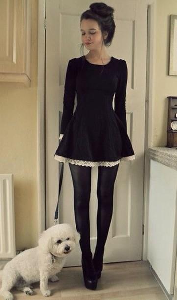 how to look classy black leggings