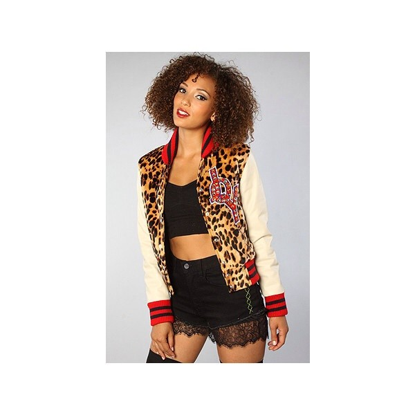 jacket JOYRICH X GIZA leopard print varsity jacket