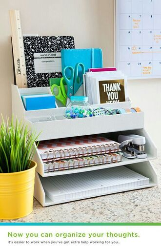 home accessory desk office supplies stationary plants back to school