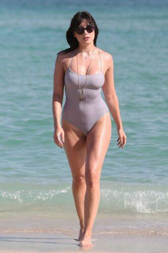 swimwear lavender daisy lowe one piece bikini lilac celeb lux model