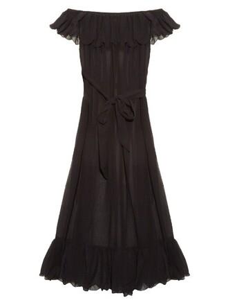 dress maxi dress maxi cotton silk black