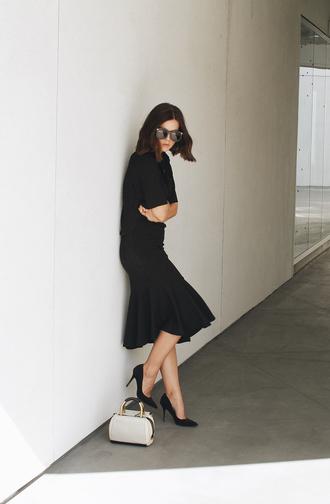 take aim blogger shirt sunglasses bag jewels skirt