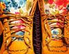 Shoes Nike Roshe Run Floral Nike Trainers Black