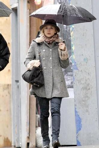 hat scarf blogger winter coat olsen sisters