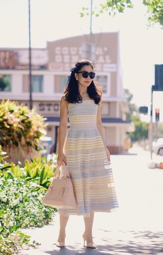 hallie daily blogger dress shoes sunglasses bag jewels