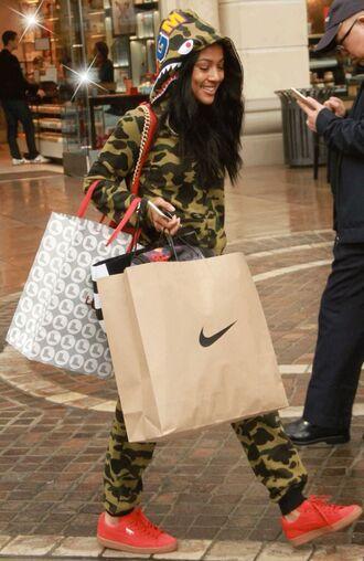 jacket hoodie camouflage karrueche sweatshirt sweatpants sneakers pants shoes