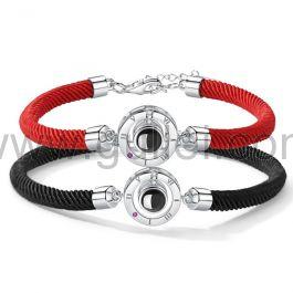 Light Projection Couple Bracelets Anniversary Gift