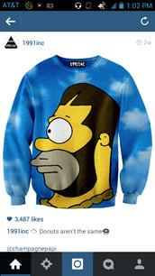 sweater,the simpsons,sweatshirt,sky,drake