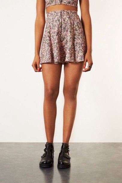 skirt ditsy floral skater skirt summer