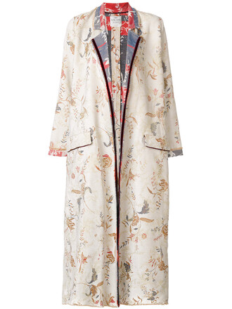 coat floral coat women floral cotton