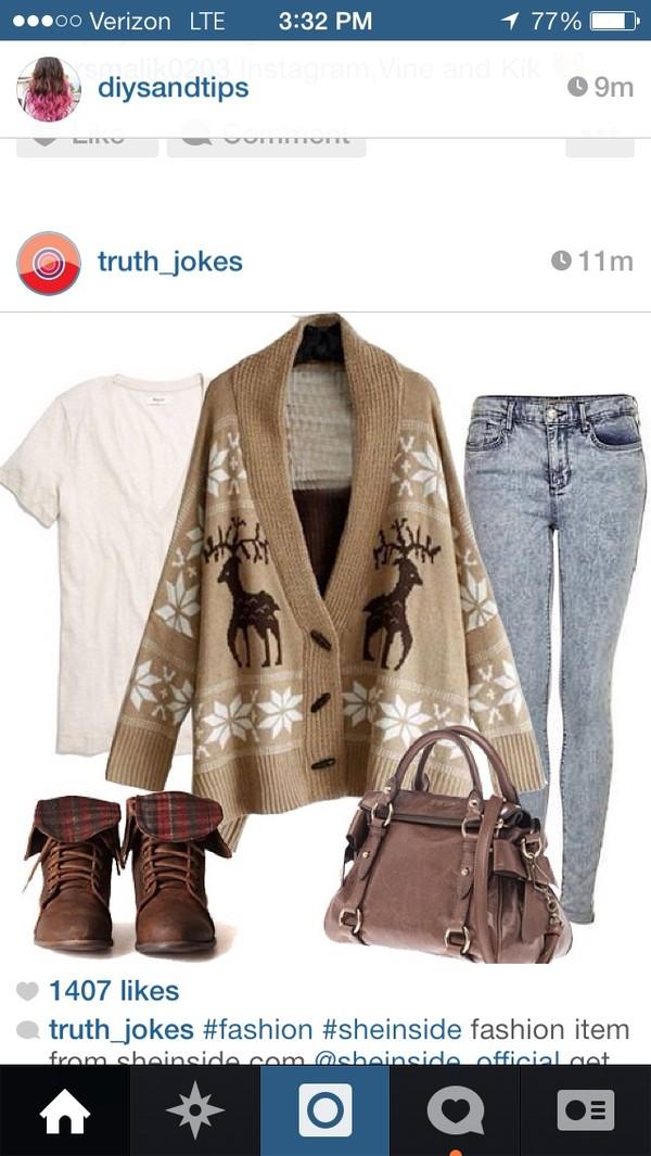 bag brown purse hobo bag sweater