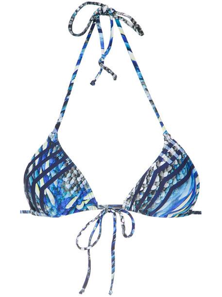 Lygia & Nanny bikini bikini top women spandex blue swimwear