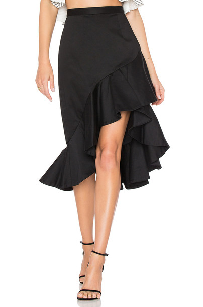 AMUR skirt ruffle black