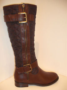 Ladies Brown Knee High Fashion Boot Size 3 - 6 | eBay