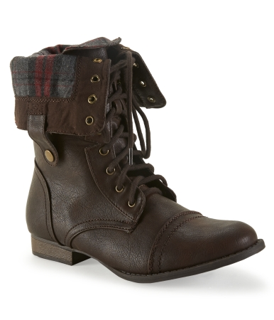 Foldover Combat Boot -