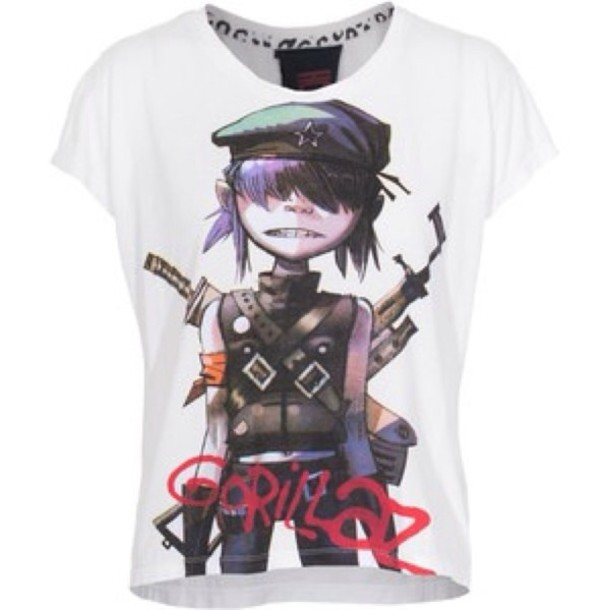 T-shirt: gorillaz, noodles, jazz, pop punk, punk rock ...