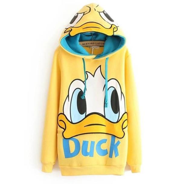 shirt donald duck hoodie hoodie
