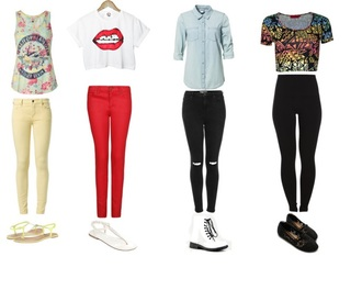 shirt lips denim tribal pattern yellow red black boots toms sandals trill cute cali california floral leggings
