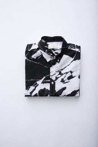 shirt button button up button up blouse menswear male button up male shirt marble swirls swirl cool skater hipster dope amazing streetwear street streetstyle soft soft grunge