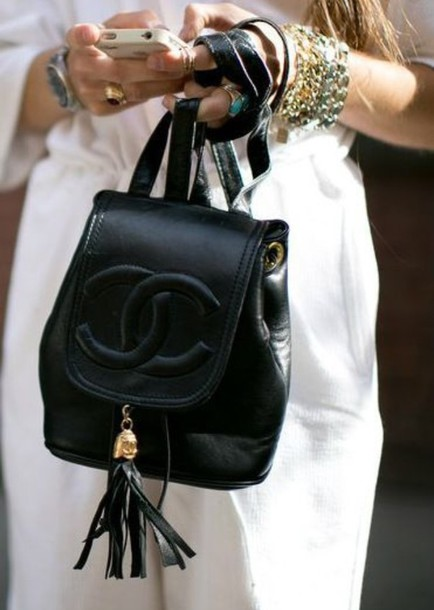 bag chanel bag backpack jewels jewelry cute white dress