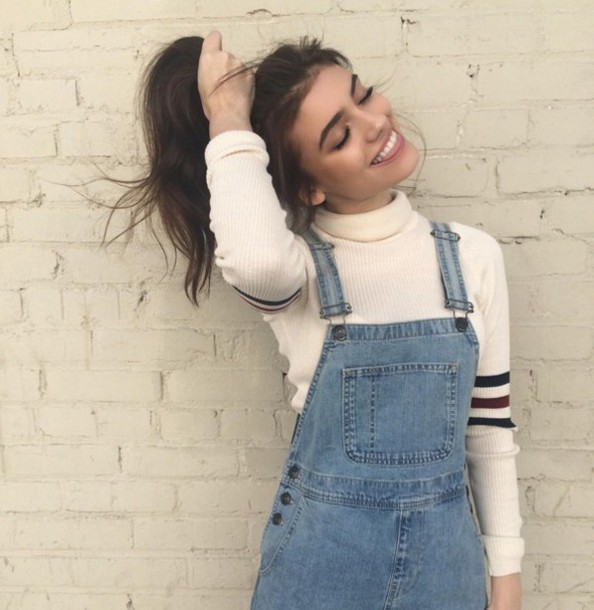 Sweater Cute Trendy Retro Tumblr Fashion Cool Brandy Melville Teenagers Overalls American Apparel Turtleneck Jumpsuit