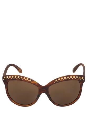 studs sunglasses brown