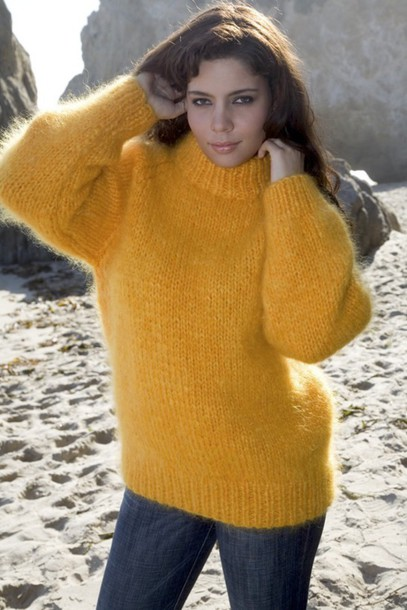 sweater mohair sweater fuzzy sweater winter warm sweater raglan sleeved sweater crew-neck sweater hand knitted sweater women's sweater orange sweater knitted orange jumper