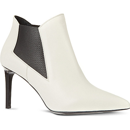 SAINT LAURENT - Classic Paris chelsea ankle boots in white leather | Selfridges.com