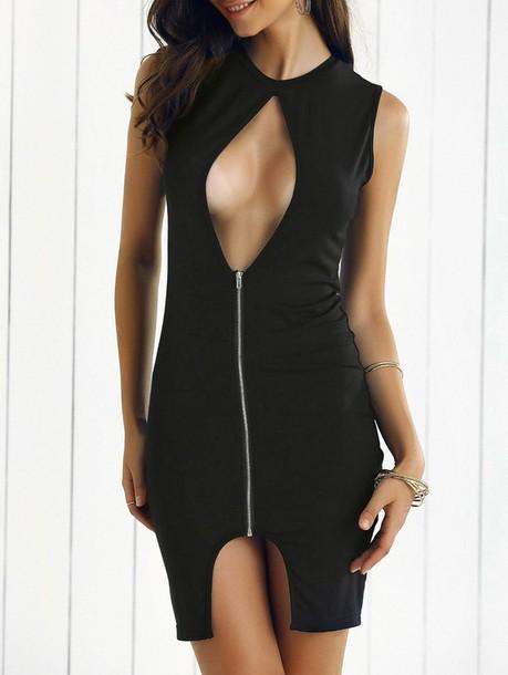 dress sleeveless sleeveless dress zip zipped dress black black dress